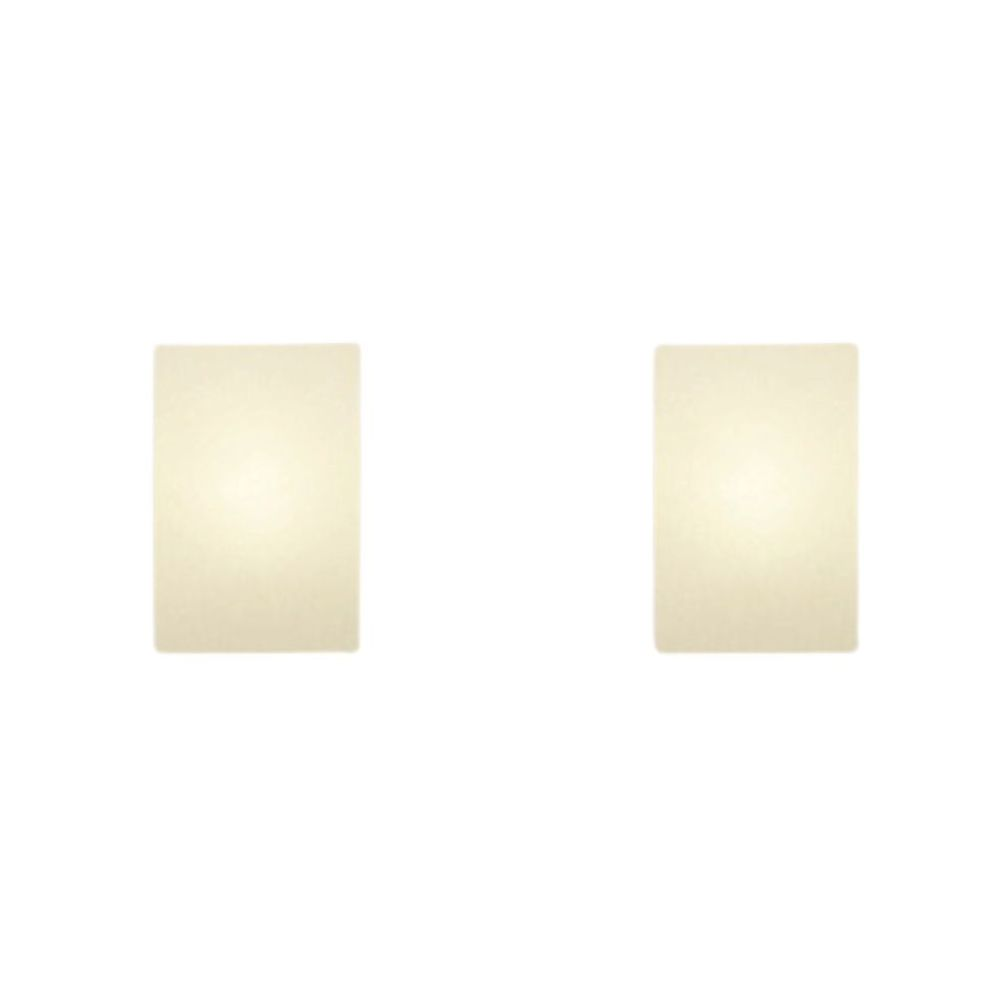 Kit/2 Arandela Retangular Retro Md-2002 Cúpula em Tecido 25/16x10cm Branco - Bivolt
