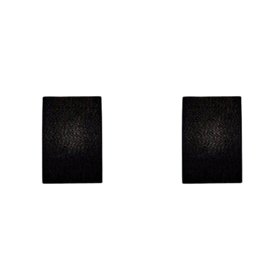 Kit/2 Arandela Retangular Retro Md-2002 Cúpula em Tecido 25/16x10cm Preto - Bivolt