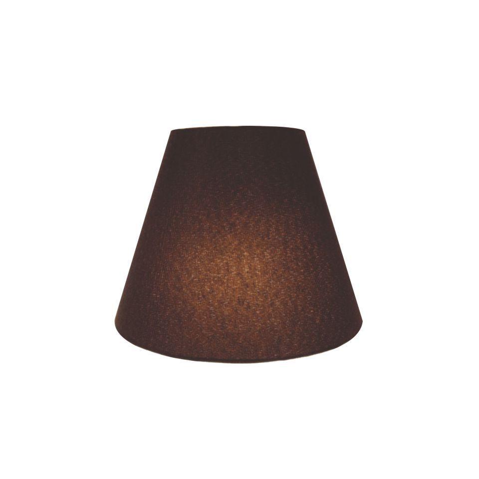 Kit/2 Arandela Retro Cone Md-2001 Cúpula Tecido 25/26x13cm Café
