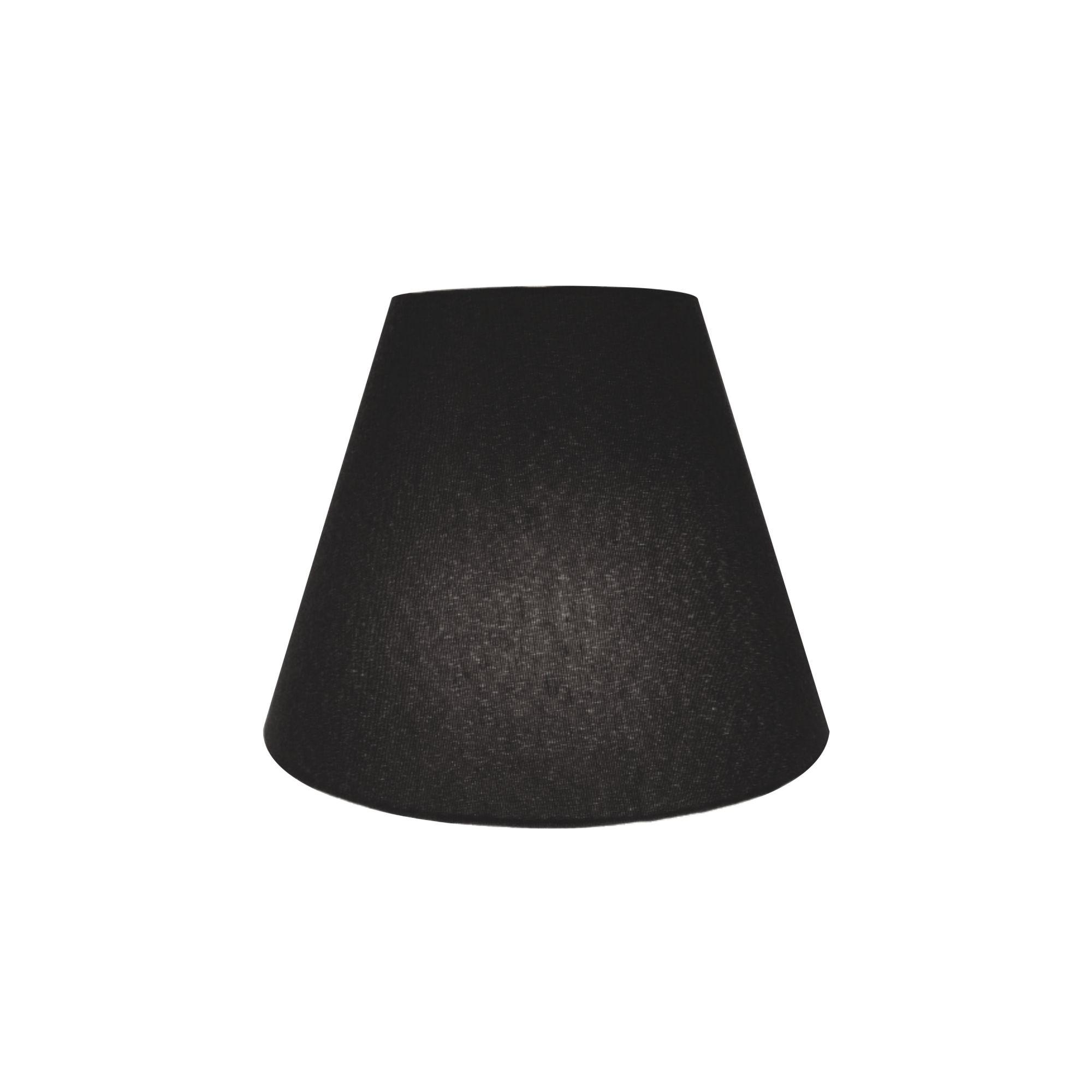 Kit/2 Arandela Retro Cone Md-2001 Cúpula em Tecido 25/26x13cm Preto - Bivolt