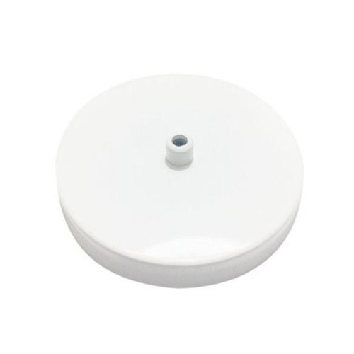 Kit/2 Canopla Lustre Pendente Cilíndrica Vivare Md-1004 11x1,2cm Branca