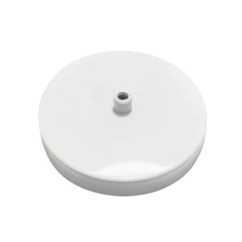Kit/2 Canopla Lustre Pendente Cilíndrica Vivare Md-1004 11x1,2cm Branco