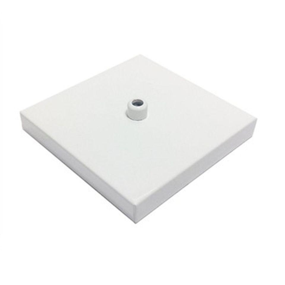 Kit/3 Canopla Lustre Pendente Quadrado Md-1005 12x12x2cm Branco