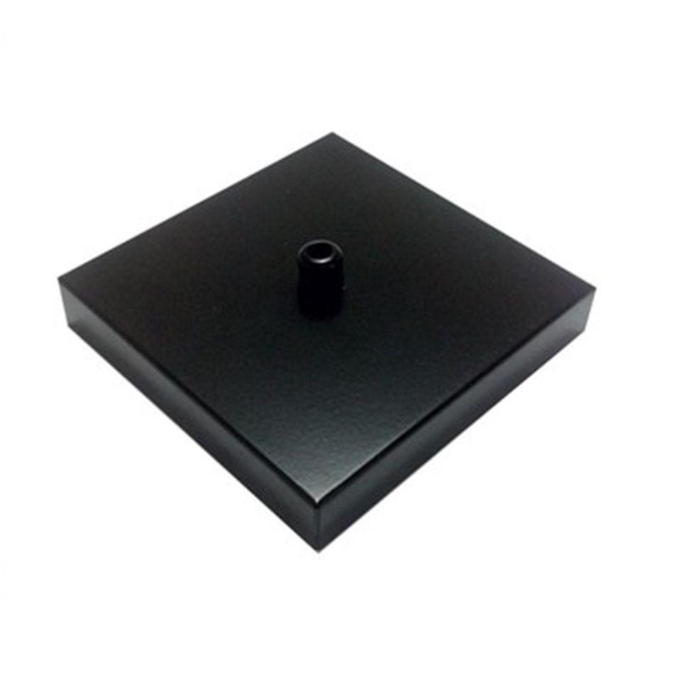 Kit/3 Canopla Lustre Pendente Quadrado Md-1005 12x12x2cm Preto