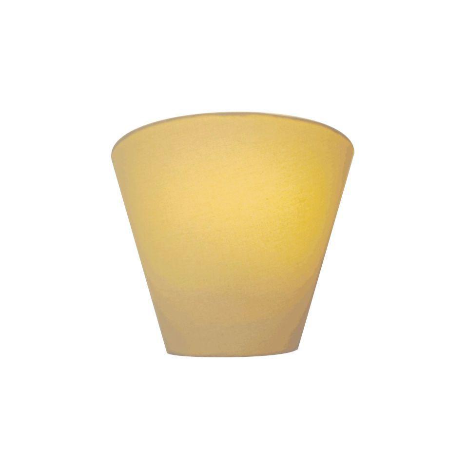 Kit/4 Arandela Retro Cone Md-2001 Cúpula em Tecido 25/26x13cm Algodão Crú - Bivolt