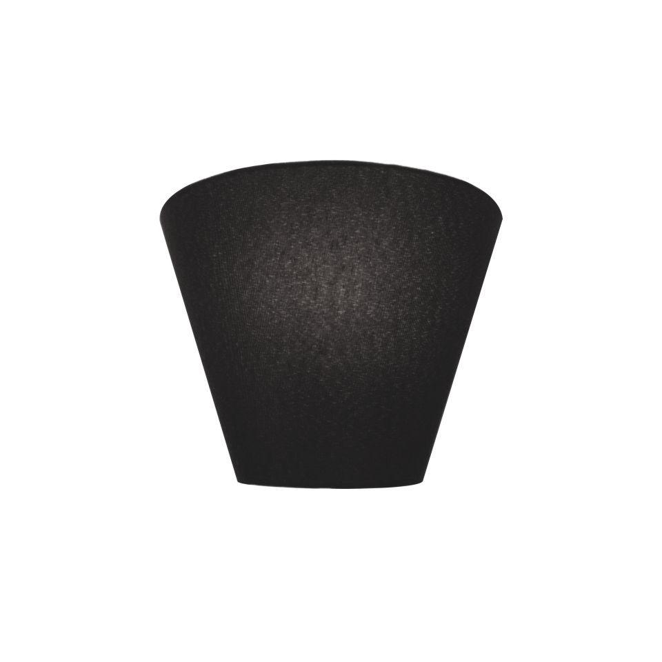 Kit/4 Arandela Retro Cone Md-2001 Cúpula em Tecido 25/26x13cm Preto - Bivolt