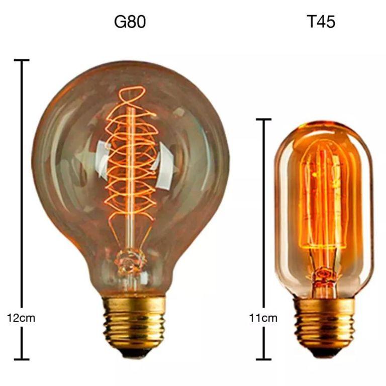 Kit/4 Luminária Lustre Retro Md-4149 Suporte Para Lâmpada / Não Inclusa - Bivolt