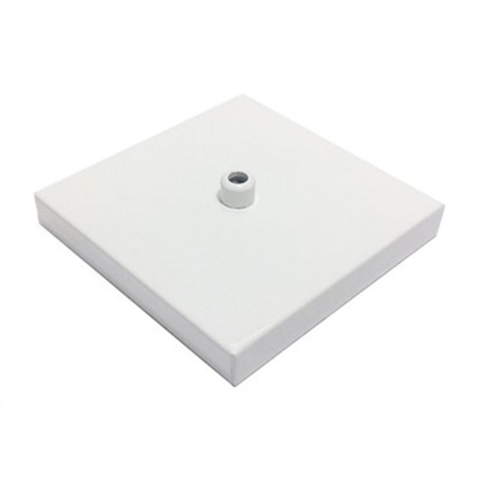 Kit/5 Canopla Lustre Pendente Quadrado Md-1005 12x12x2cm Branca