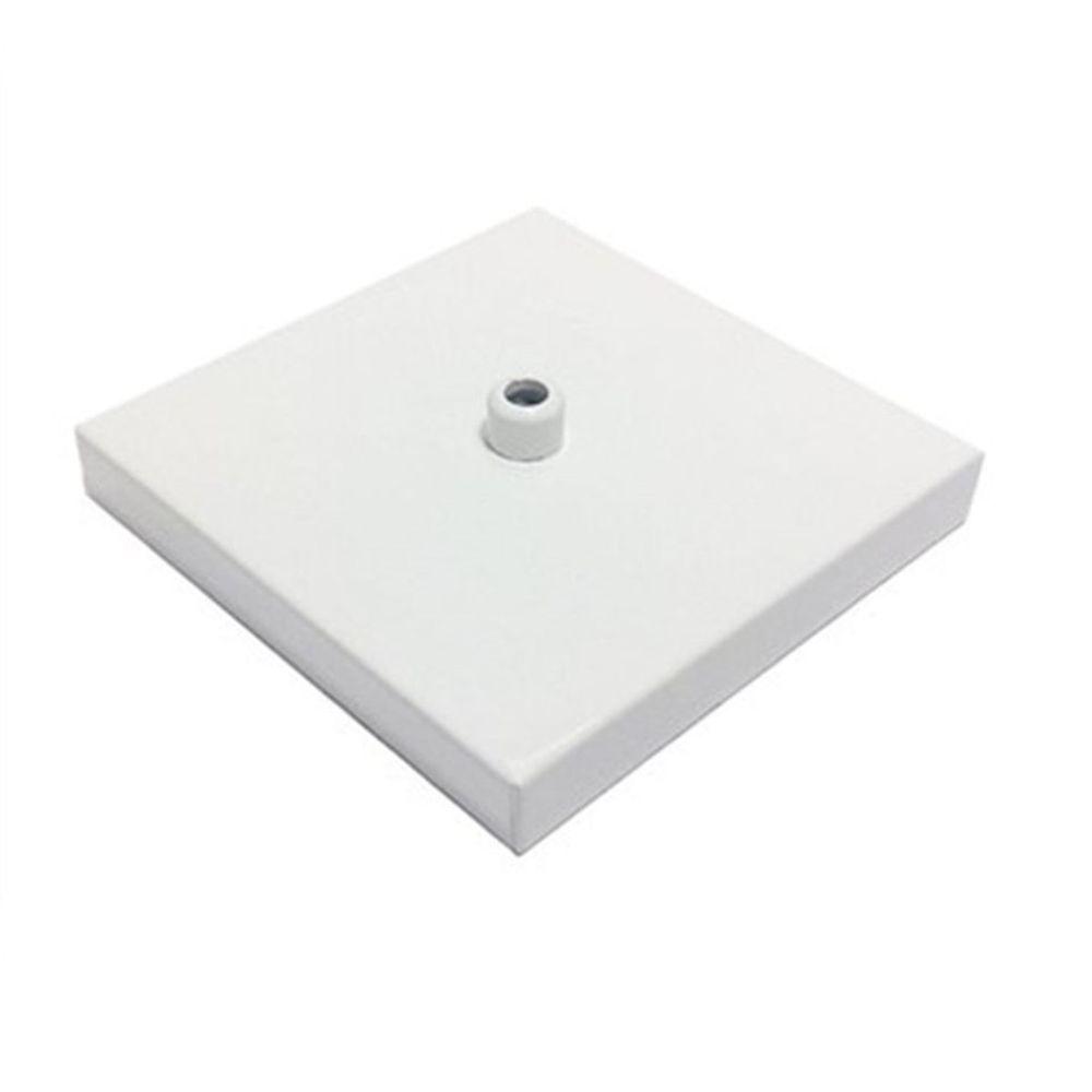 Kit/5 Canopla Lustre Pendente Quadrado Md-1005 12x12x2cm Branco