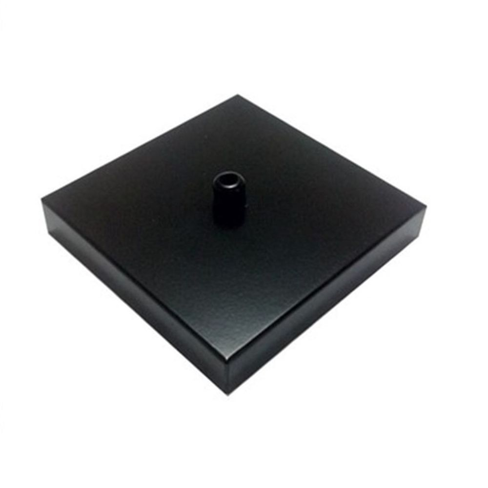Kit/5 Canopla Lustre Pendente Quadrado Md-1005 12x12x2cm Preto