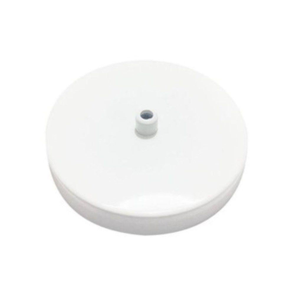 Kit/8 Canopla Lustre Pendente Cilíndrica Vivare Md-1004 11x1,2cm Branco