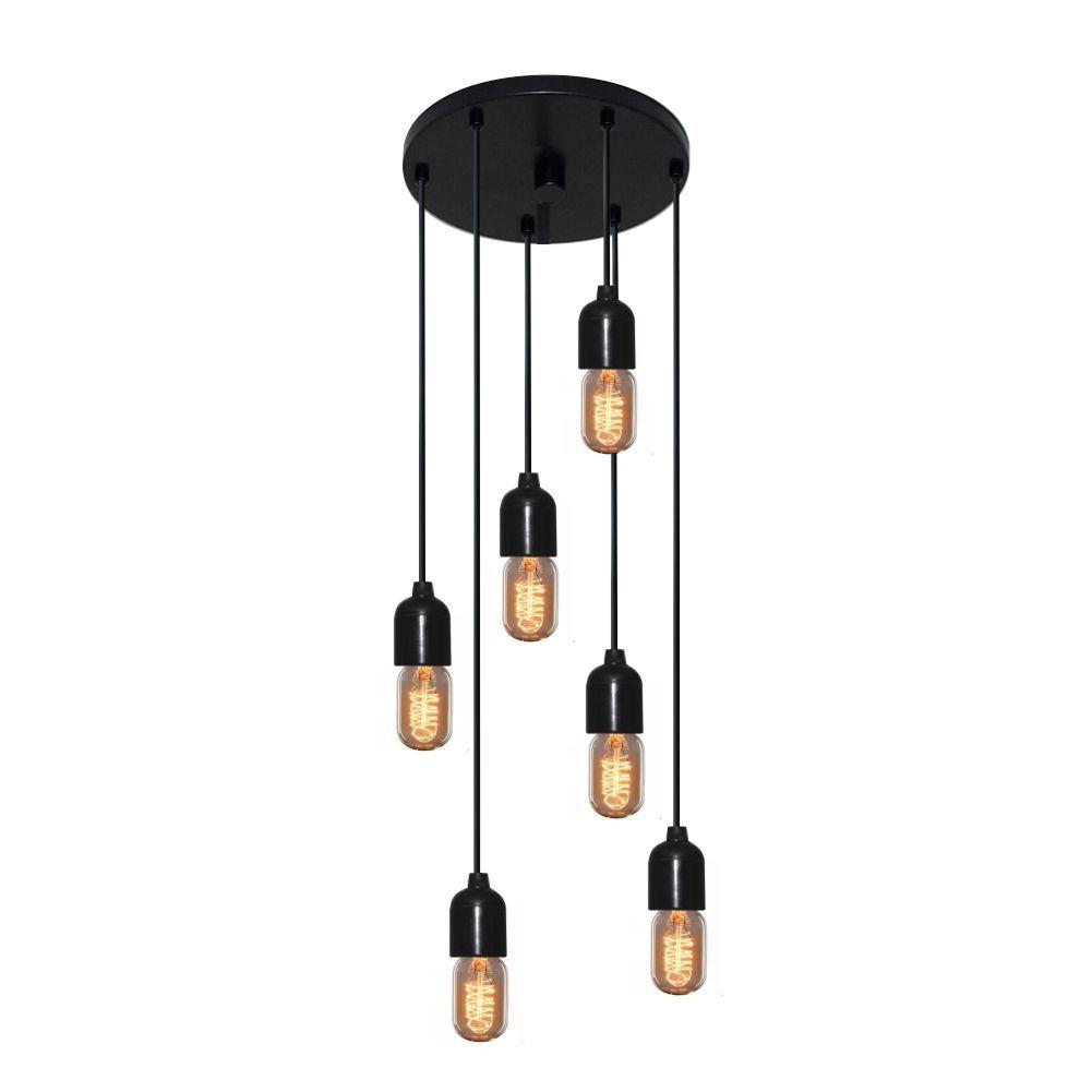 Luminária Lustre Retro Md-4162/6 Suporte Para Lâmpada / Não Inclusa - Bivolt