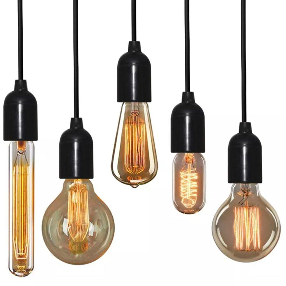 Lustre Luminária Retro Md-4162/4 Suporte Para Lâmpada / Não Inclusa - Bivolt