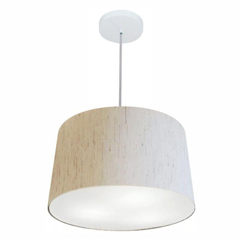 Lustre Pendente Cone Vivare Md-4247 Cúpula em Tecido 30/45x40cm - Bivolt