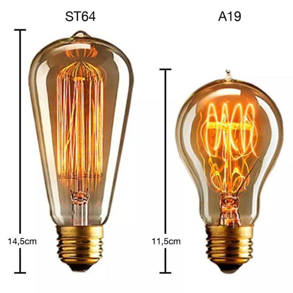 Lustre Pendente Luminária Retro Md-4162/3 Suporte Para Lâmpada / Não Inclusa - Bivolt