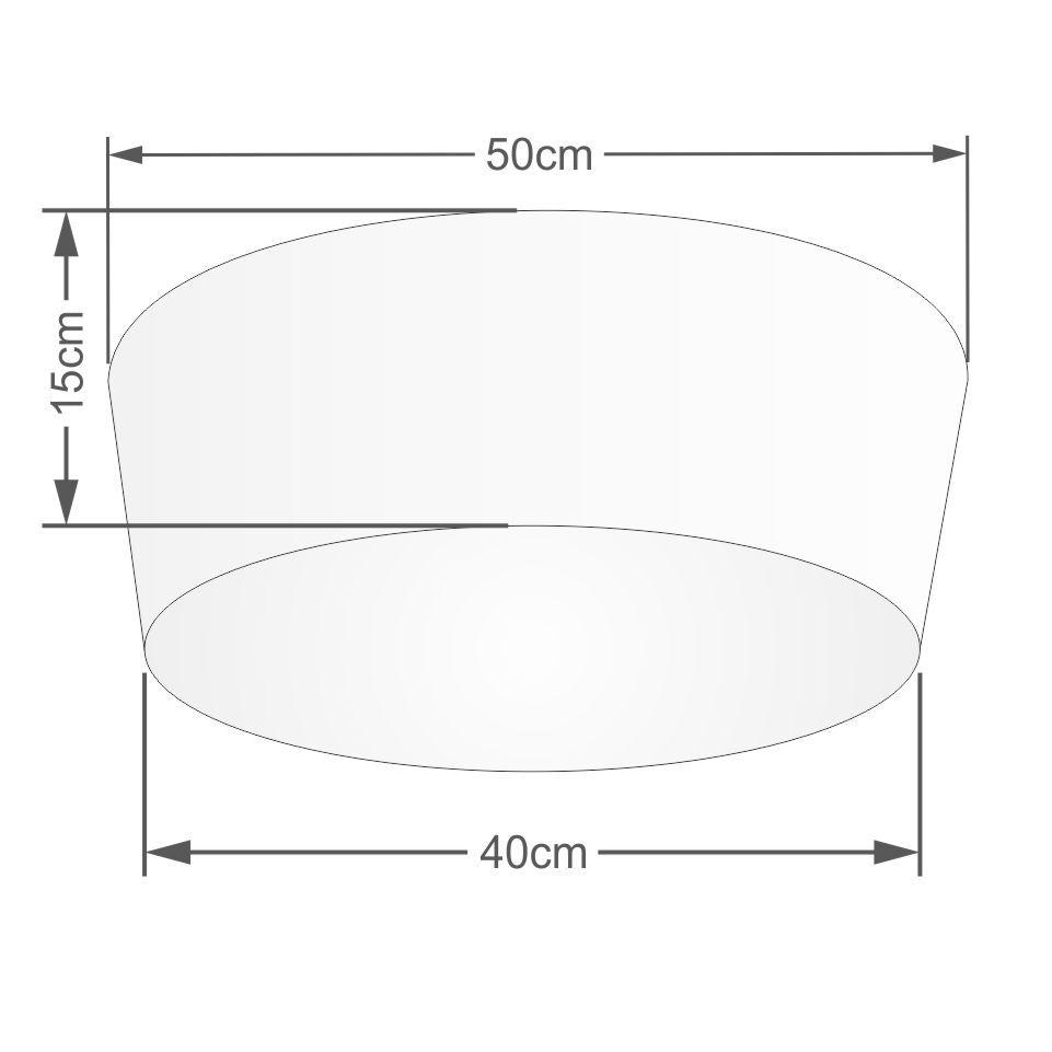 Plafon Cone Md-3004 Cúpula em Tecido 15/50x40cm Linho Bege - Bivolt