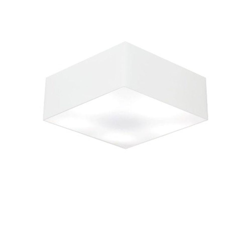 Plafon Quadrado Md-3001 Cúpula em Tecido 12/35x35cm Branco - Bivolt