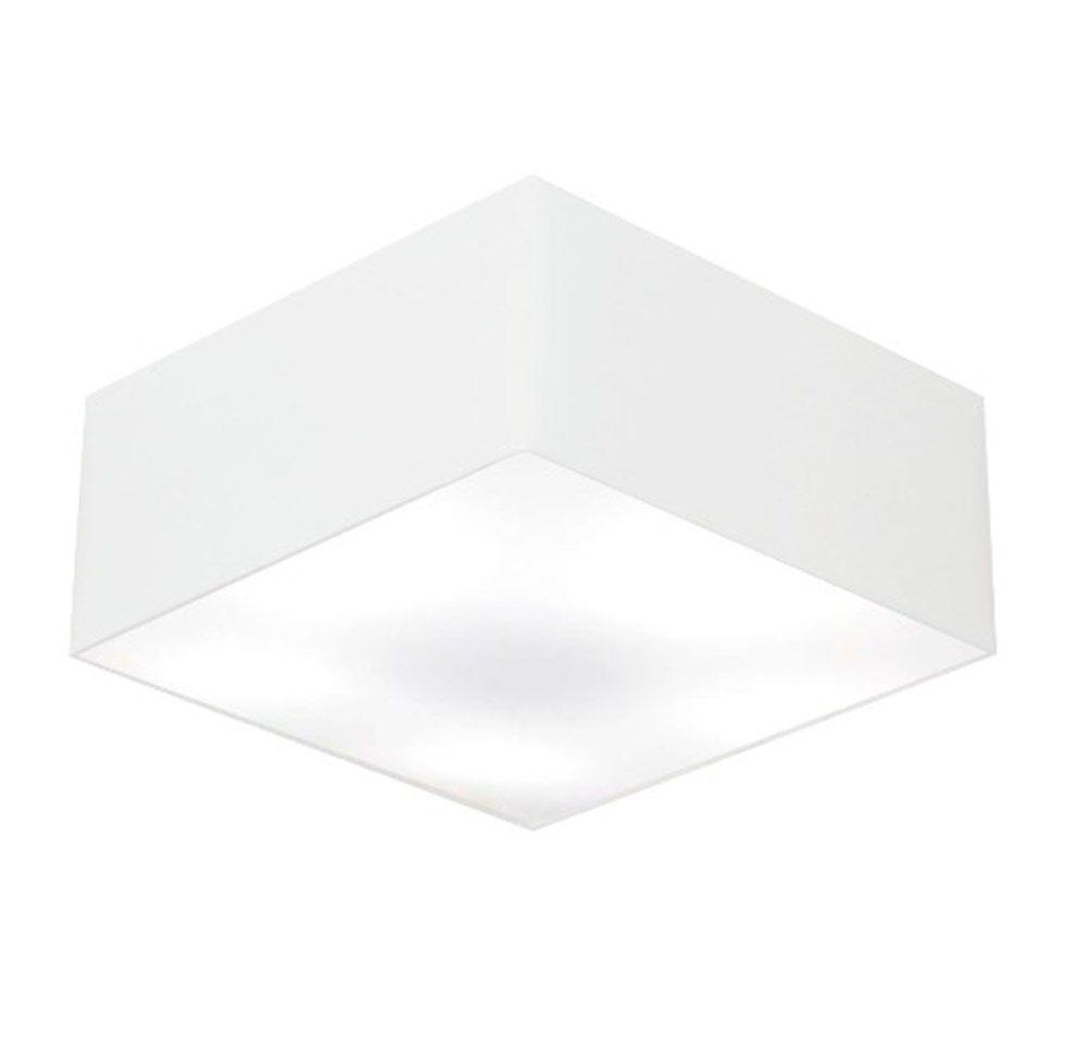 Plafon Quadrado Md-3012 Cúpula em Tecido 21/50x50cm Branco - Bivolt