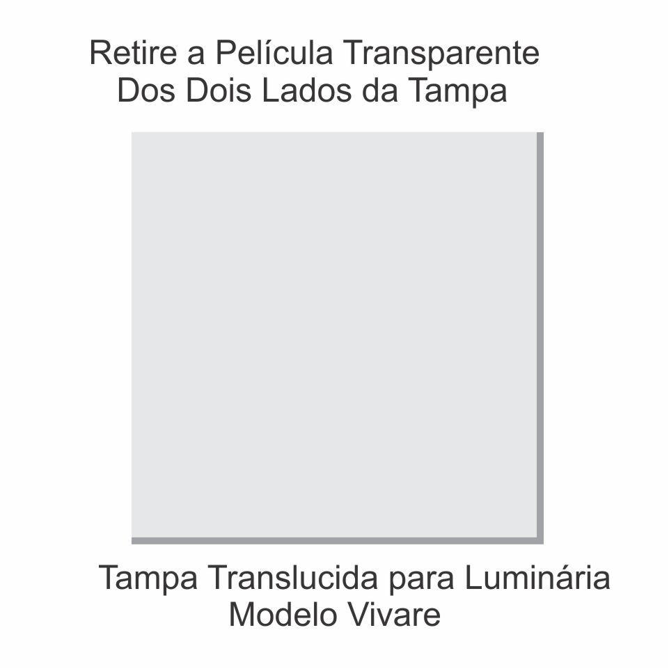 Tampa Quadrada 80cm Branco P/ Lustre Tampa Luminaria 2x80x80cm Tp-6004