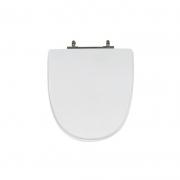 Assento Sanitário Poliéster para Louça Aloha/UP (Celite) Aço Cromado (Reb. Oculto) Branco