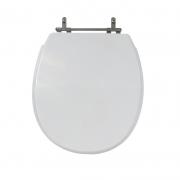 Assento Sanitário Poliéster para Louça Deville (Deca) Aço Cromado (Reb. Oculto) Branco