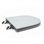 Assento Sanitário Poliéster para Louça Link/Carrara/Belle Époque (Deca) Super Luxo Black Matte (Reb. Oculto) Cinza Fosco