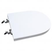 Assento Sanitário Poliéster para Louça Link/Carrara/Belle Époque (Deca) Super Luxo Cromado (Reb. Oculto) Branco