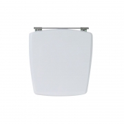 Assento Sanitário Poliéster para Louça Nuage (Incepa) Aço Cromado (Reb. Oculto) Branco