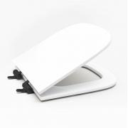 Assento Sanitário Poliéster para Louça Quadra/Unic/Axis (Deca) Slow Close Black Matte (Reb. Oculto) Branco