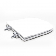 Assento Sanitário Poliéster para Louça Quadra/Unic/Axis (Deca) Slow Close Cromado (Reb. Oculto) Branco