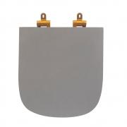 Assento Sanitário Poliéster para Louça Quadra/Unic/Axis (Deca) Slow Close Gold Matte (Reb. Oculto) Cinza Fosco