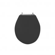 Assento Sanitário Poliéster para Louça Ravena/Izy (Deca) Aço Cromado (Reb. Oculto) Ébano