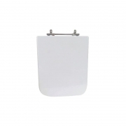 Assento Sanitário Poliéster para Louça Square (Incepa) Aço Cromado (Reb. Oculto) Branco