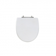 Assento Sanitário Poliéster para Louça Studio (Incepa) Aço Cromado (Reb. Oculto) Branco