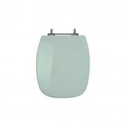 Assento Sanitário Poliéster para Louça Stylus (Celite) Aço Cromado (Reb. Oculto) Água Marinha