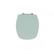 Assento Sanitário Poliéster para Louça Thema (Incepa) Aço Cromado (Reb. Oculto) Verde Água
