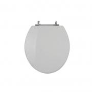 Assento Sanitário Poliéster para Louça Universal/Standard Aço Cromado (Reb. Oculto) Cinza Real