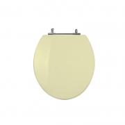 Assento Sanitário Poliéster para Louça Universal/Standard Aço Cromado (Reb. Oculto) Creme