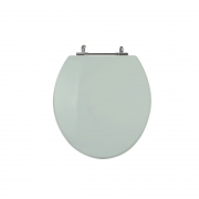 Assento Sanitário Poliéster para Louça Universal/Standard Aço Cromado (Reb. Oculto) Verde Água