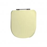 Assento Sanitário Poliéster para Louça Vogue Plus Conforto (Deca) Aço Cromado (Reb. Oculto) Creme