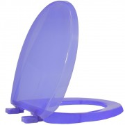 Assento Sanitário PP Oval Solution Cristal Azul Tupan