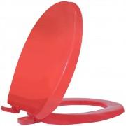Assento Sanitário PP Oval Solution Cristal Vermelho Tupan