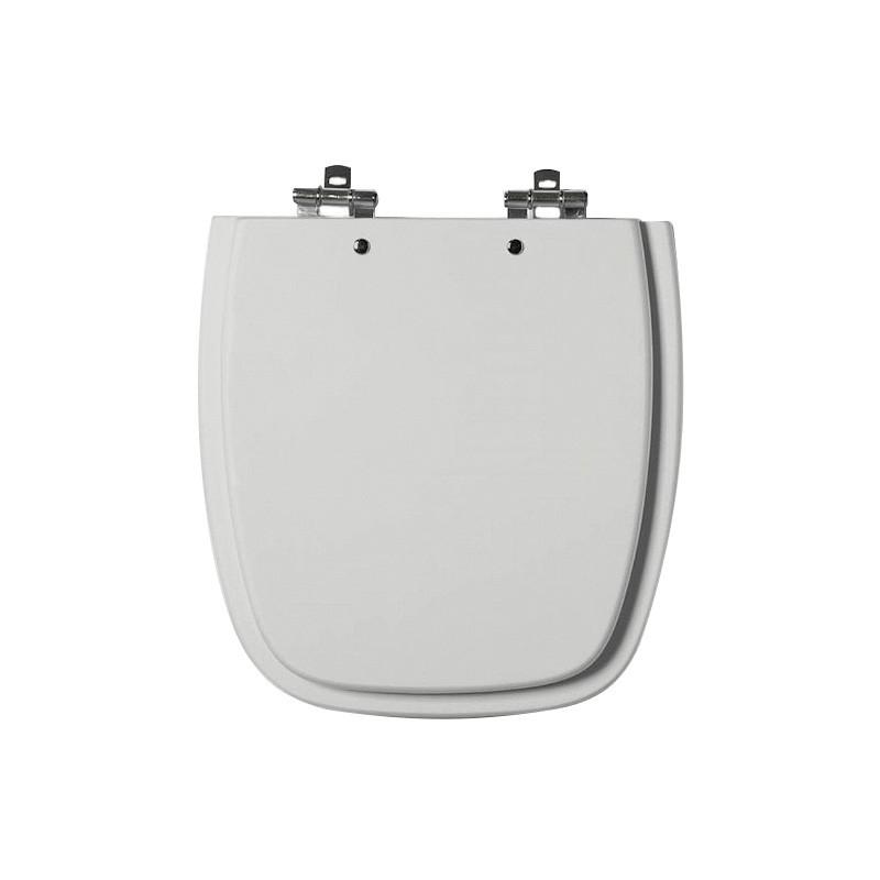 Assento Sanitário MDF Fit/Versato Cinza Prata Cromado Tondo