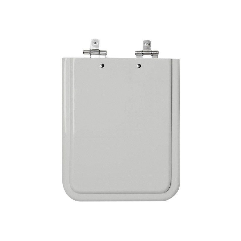 Assento Sanitário MDF Square Cinza Platina Cromado Tondo