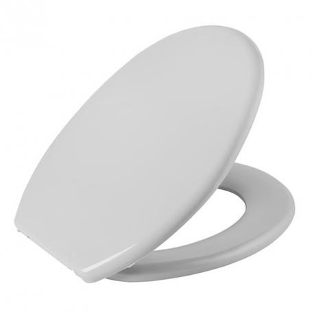 Assento Sanitário Plástico Oval Soft Cinza 2 Astra