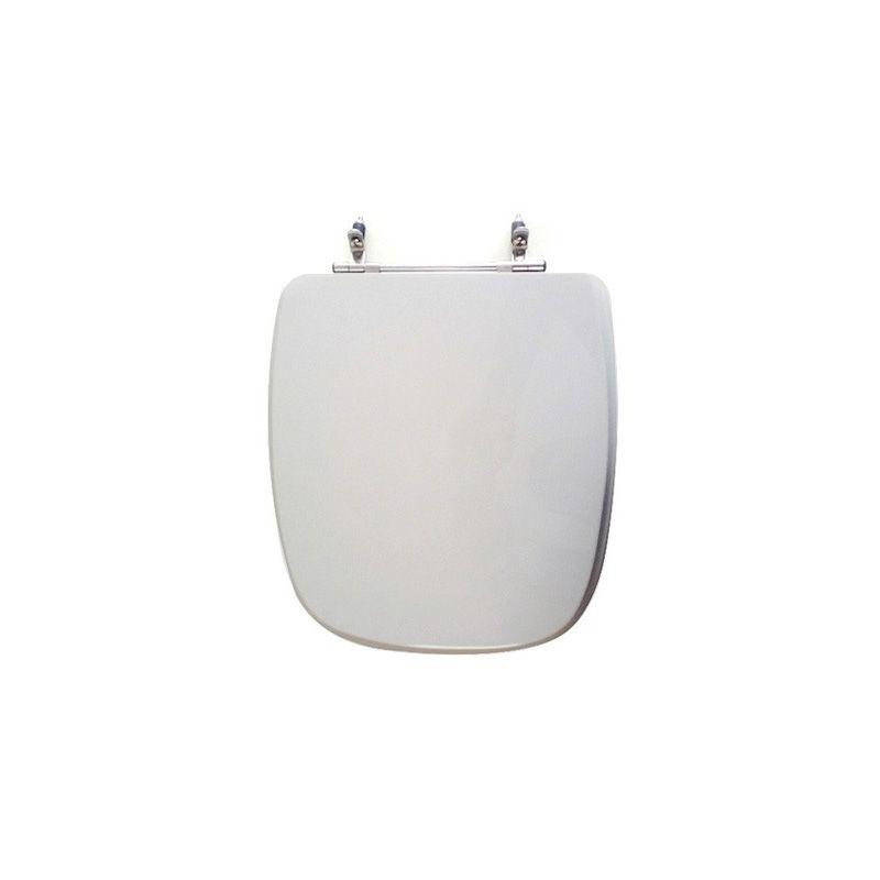 Assento Sanitário Poliéster para Louça Angra/Avant/City (Logasa/Incepa/Celite) Aço Cromado (Reb. Oculto) Cinza Prata