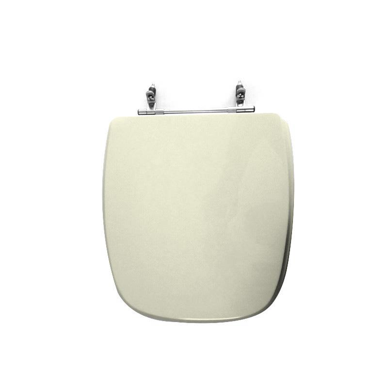 Assento Sanitário Poliéster para Louça Angra/Avant/City (Logasa/Incepa/Celite) Aço Cromado (Reb. Oculto) Biscuit