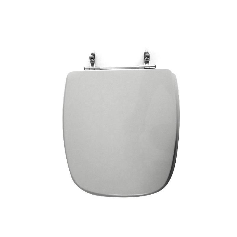 Assento Sanitário Poliéster para Louça Angra/Avant/City (Logasa/Incepa/Celite) Aço Cromado (Reb. Oculto) Sterling Silver