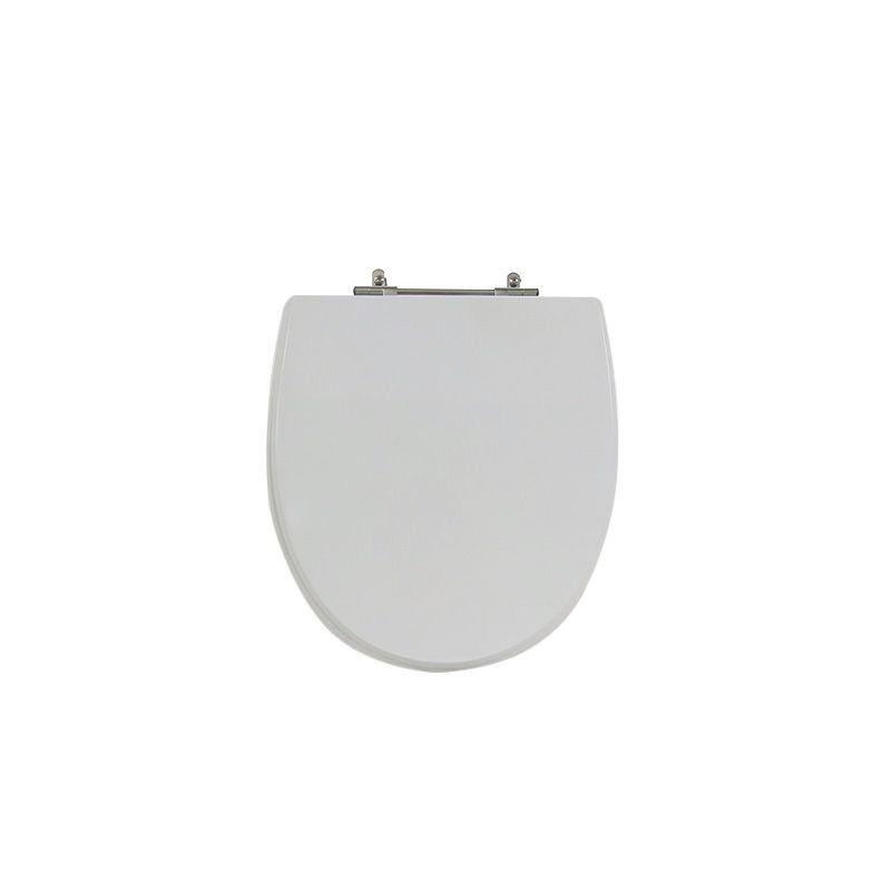 Assento Sanitário Poliéster Para Louça Hervy Polo Liso Cinza