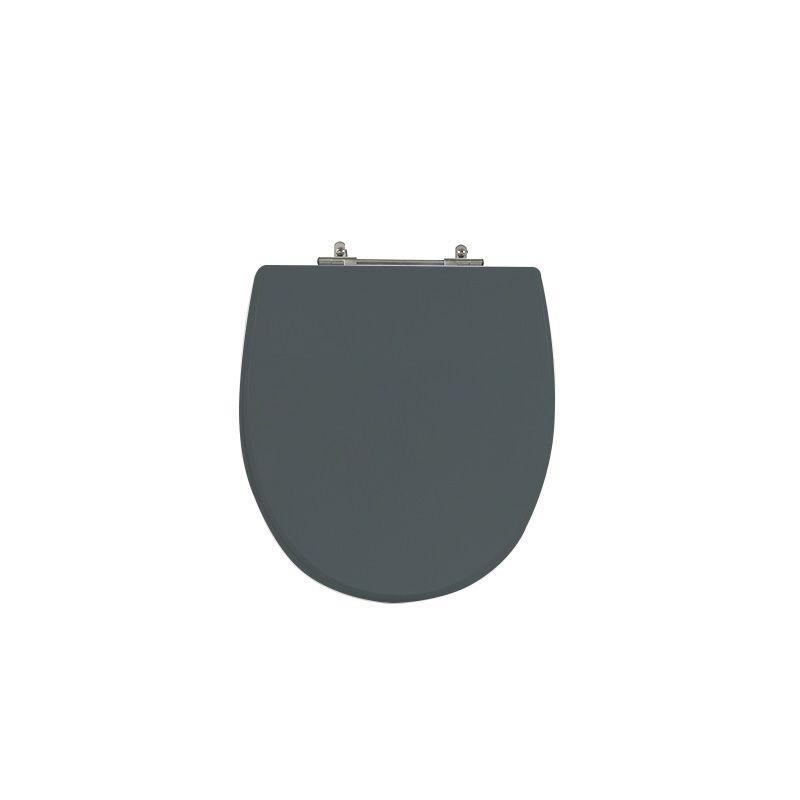 Assento Sanitário Poliéster Para Louça Hervy Polo Liso Cinza Plus